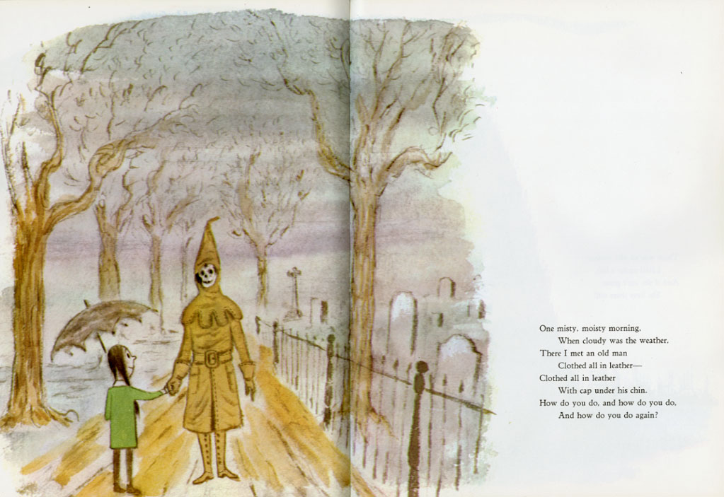 An illustration from Charles Addams' Mother Goose Nursery Rhymes