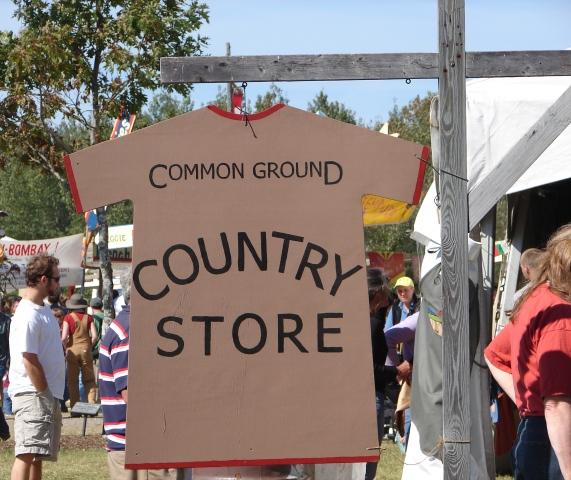 Common Ground Fair sign