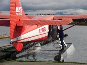 De Havilland Otter at dock on Lake Hood