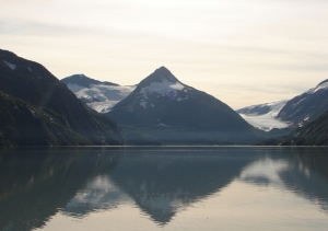 Portage Glacier view across the lake