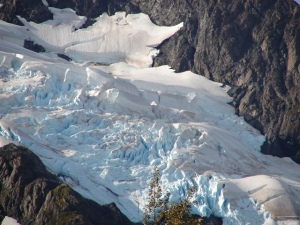 Close-up of Portage Glacier ice field