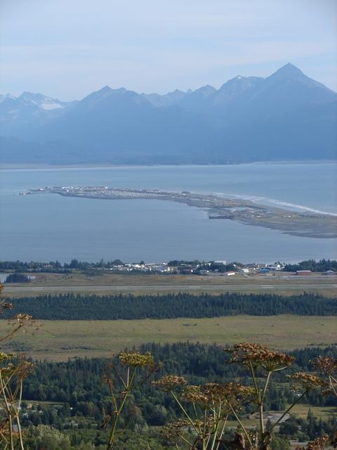 View of Homer Spit in Kachemak Bay