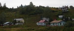Ninilchik village (church visible peeking over hill)