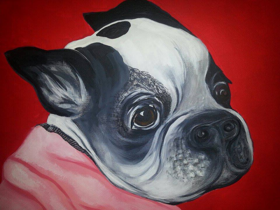 Finished portrait, close-up
