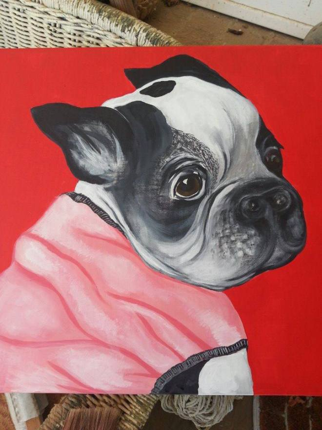 Portrait of Patches, nearly finished